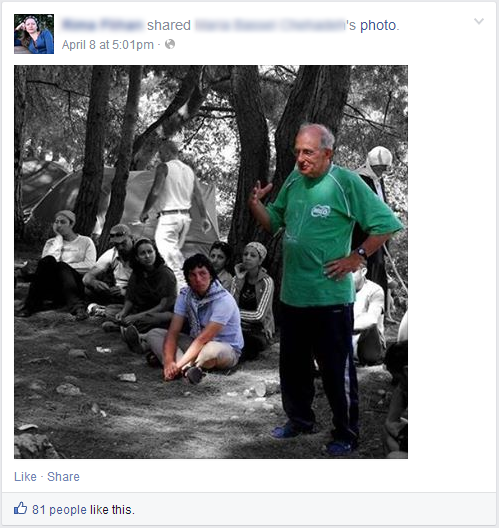 """After the recent killing of """"Father Frans""""; a dutch priest who was residing in the Old City of Homs. The picture shows Father Frans in the green t-shirt along with another young man in a blue shirt: """"Bassel Shehadeh"""", who was a Syrian film producer and an activist. Bassel was killed in May 2012 during a government assault in Homs. Finally, the profile picture of the activist posting this picture is a pic of the activist """"Razan Zaitouneh"""" who was kidnapped in December 2013 by unknown militants."""